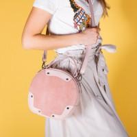 Женская сумка замшевая LL №901037 розовый