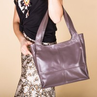 Женская кожаная сумка LL №901261 коричневый