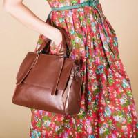 Женская сумка кожаная LL №902503 коричневый