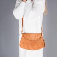 Женская замшевая сумка LL №902516 рыжий