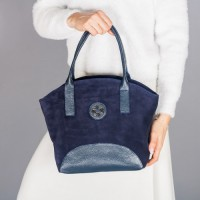 Замшевая женская сумка LL №902526 синий