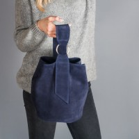 Женская замшевая сумка LL №902549 синий