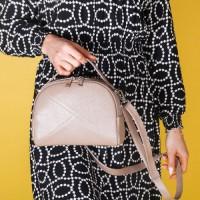 Женская сумка из кожи LL №902568 бежевый