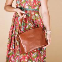 Женская сумка кожаная LL №902598 рыжий