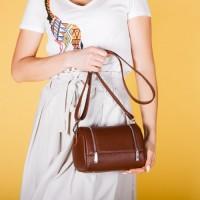 Женская сумка из кожи LL №902611 рыжий