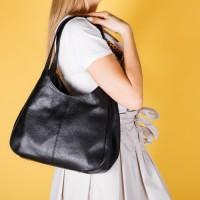 Женская сумка натуральная кожа LL №902622 черный