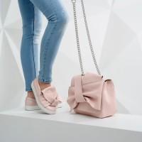 Женская сумочка из натуральной кожи LL №90576 pink