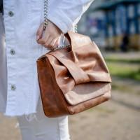 Кожаная сумочка женская LL №90888 brown