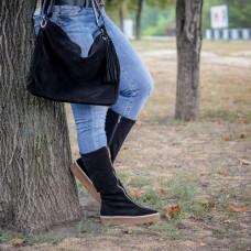 Замшевая сумка женская LL №91344 black