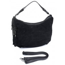 Замшевая женская сумка Parse №009 черный