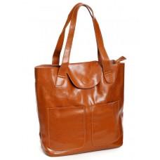 Кожаная сумка женская №599 Рыжий