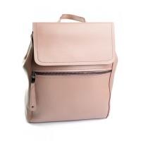 Кожаный женский рюкзак с клапаном Parse 1005 Pink