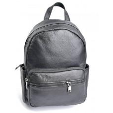 Кожаный женский рюкзак Parse №10086 черный