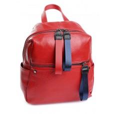Женский кожаный рюкзак Parse №10089 красный