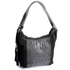Женская замшевая сумка Parse №186 Черный