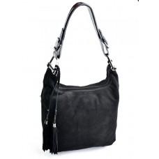Женская кожаная сумка Parse №1871A Черный