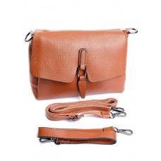 Кожаная женская сумка Parse №1933 Рыжий
