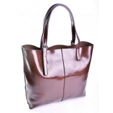 Женская сумка кожаная №2011 Коричневый