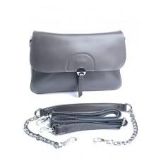 Женская кожаная сумочка Parse №2072G Темно-серый