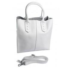 Женская сумка натуральная кожа Parse №3014 White