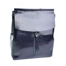 Женский рюкзак кожаный №3206 Синий