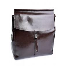 Рюкзак кожаный женский №3206 Коричневый