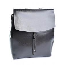 Кожаный рюкзак женский №3206 Серый