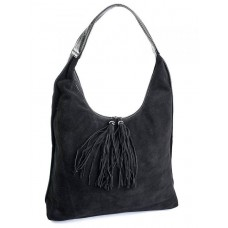 Замшевая женская сумка Parse №346 Черный