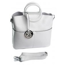 Женская сумка кожаная Parse №6002 White