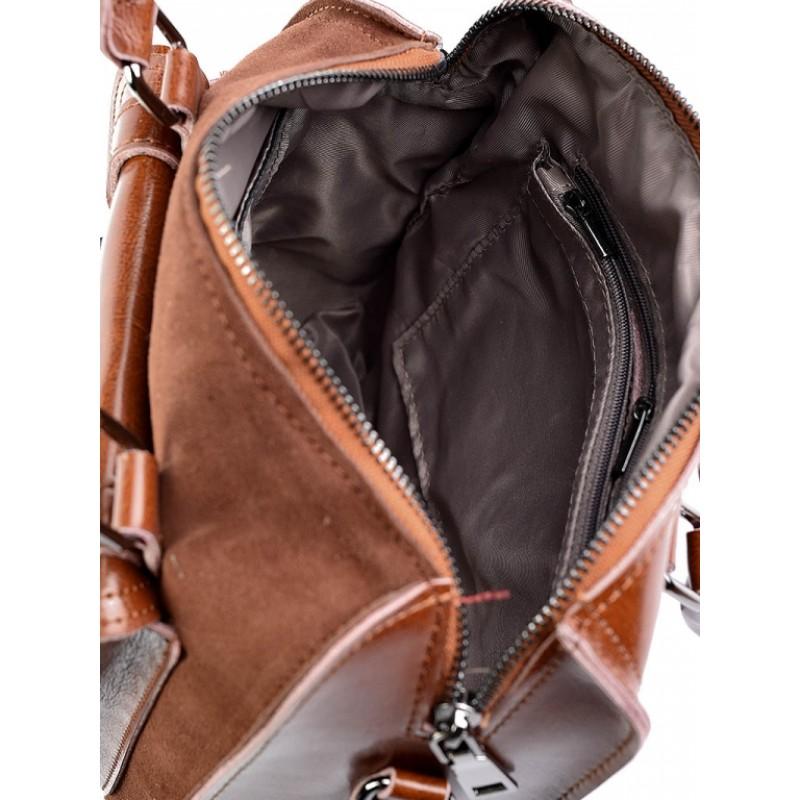 0c34b88d637c Купить недорого женскую сумку кожаную с замшей цвет чёрный №6053-1 в ...