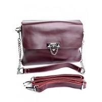Женская кожаная сумка кросс-боди Parse 6602-G W.Red