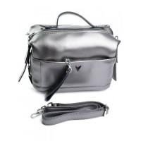 Женская кожаная сумка-бочонок Parse 667 Pearl Gray