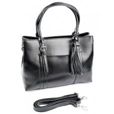 Женская кожаная сумка Parse №680 Черный