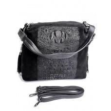 Женская сумка из натуральной замши Parse №768 Черный