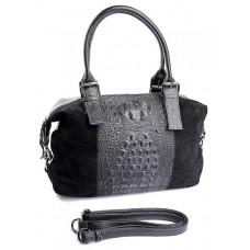 Женская сумка замшевая Parse №790 Черный