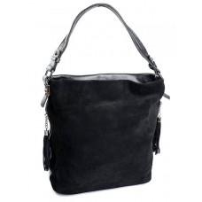 Замшевая сумка женская Parse №7904 Черный