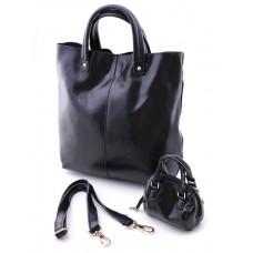 Женская сумка из натуральной кожи Parse №8010 Черный