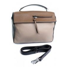 Женская сумка натуральная кожа Parse №80883 Бежевый