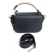Женская кожаная сумочка Parse №80932 Черный