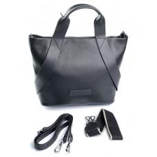 Женская кожаная сумка Parse №80966 Черный