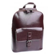 Кожаный женский рюкзак Parse №830HK коричневый
