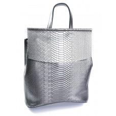 Рюкзак из кожи женский №8504-4 Серый