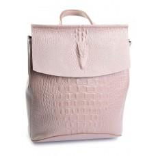 Женский рюкзак кожаный Parse №8504-7 розовый