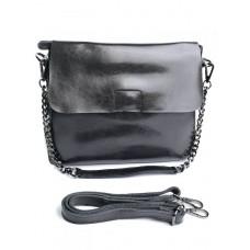 Женская кожаная сумка Parse №8604 Серый