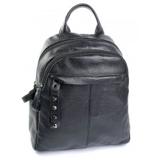 Женский рюкзак натуральная кожа Parse №8612 черный