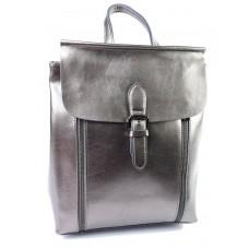 Кожаный рюкзак женский Parse №8632 серебро