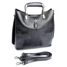 Кожаная женская сумка Parse №8653 Черный