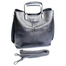 Женская сумка из натуральной кожи Parse №8653 Серебро