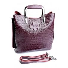 Кожаная женская сумка Parse №8653 Красный