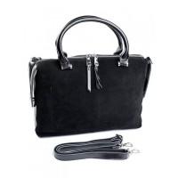 Женская сумка из натуральной замши Parse №8665-B Черный